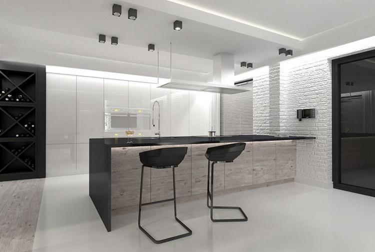 Schön Küchentresen Mit Barhockern   30 Design Anregungen   Kuchentresen Mit Barhockern  25 Design Anregungen