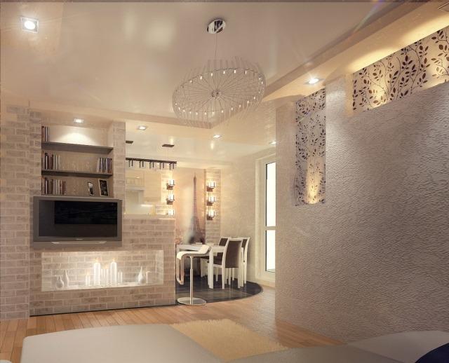 Einrichtungsideen für Wohnzimmer mit offener Küche - inneneinrichtungsideen wohnzimmer kuche