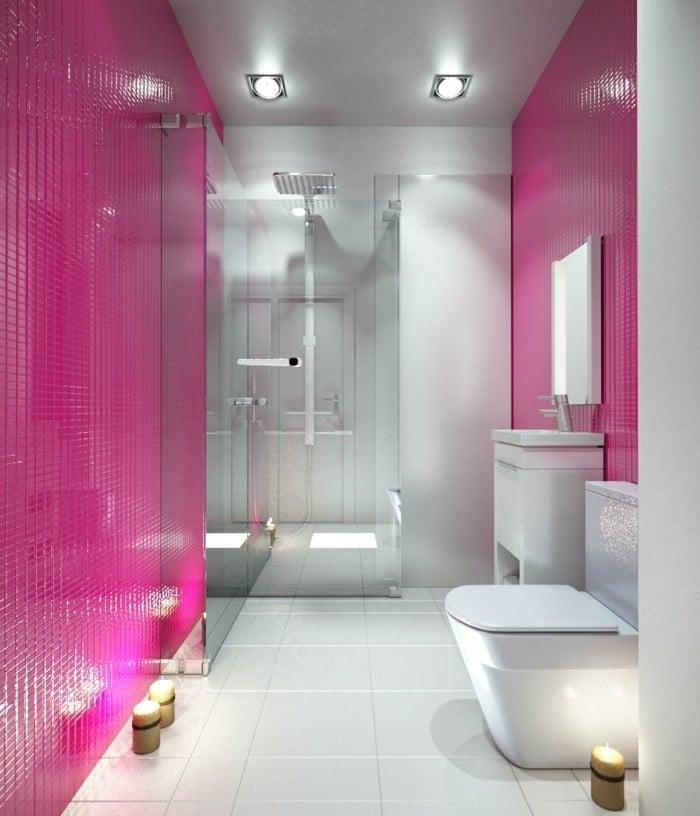 Badezimmer In Pink ~ Möbel Ideen und Home Design Inspiration - badezimmer pink