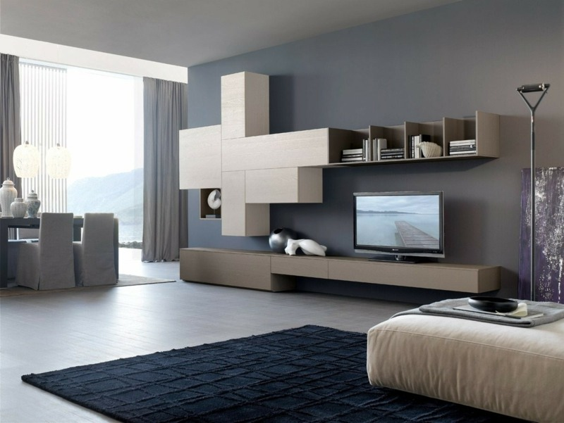 Die graue Wandfarbe im Wohnzimmer u2013Top Trend für 2015 - creme graues wohnzimmer