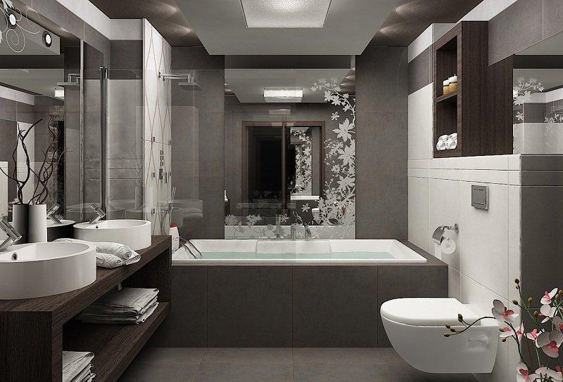 Kleine Badezimmer einrichten - 30 Ideen für modernes Bad - weies badezimmer modern gestalten