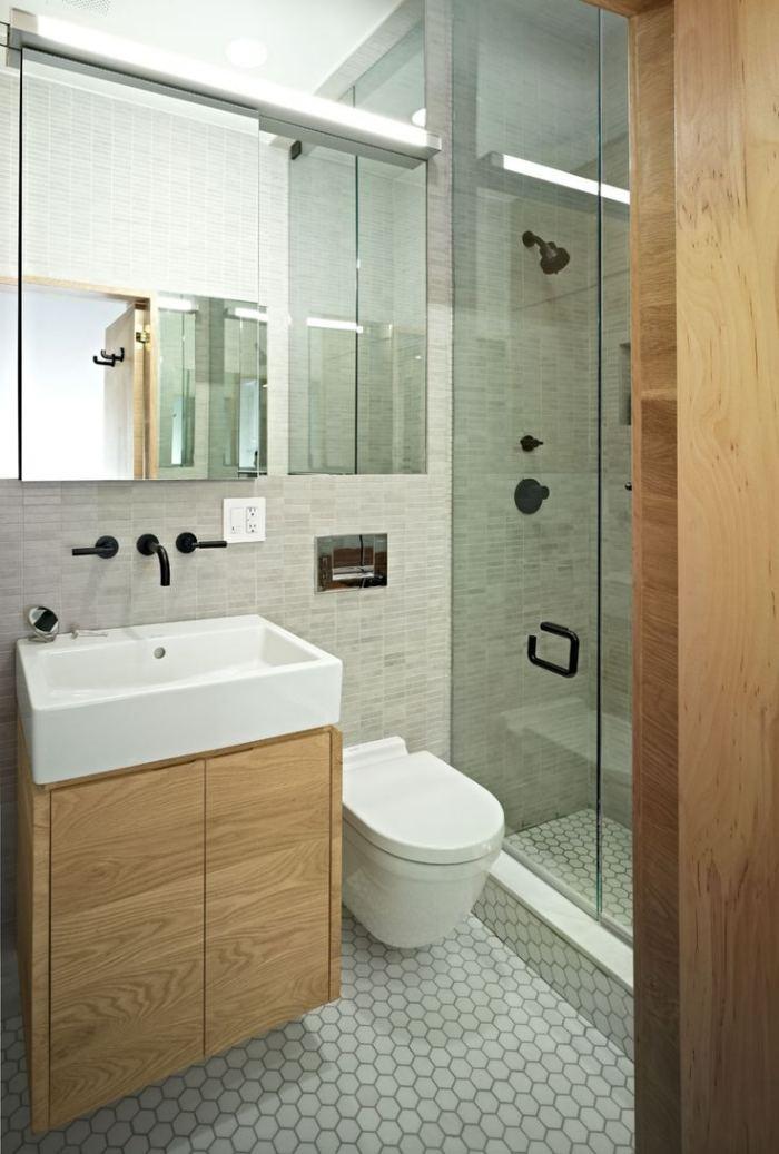 Kleines Badezimmer gestalten - 30 Fliesen Ideen und Tipps - kleines badezimmer fliesen ideen