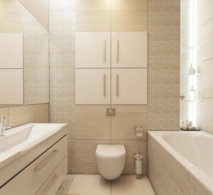 Kleines Badezimmer Gestalten   30 Fliesen Ideen Und Tipps   Badezimmer 4m2