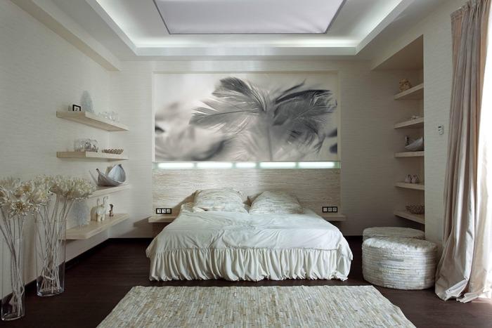 30 inspirierende Schlafzimmer-Beispiele in neutralen Farben - schlafzimmer creme wei
