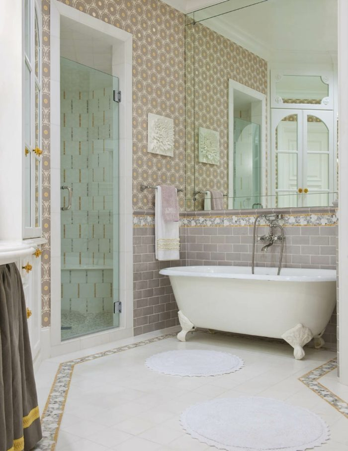 Retro Badewanne Vintage Bad Fliesen Ideen- 25 Interieure Mit Retro Design
