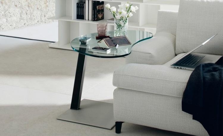 couchtisch glas wohnzimmertisch holz glas - design more info,