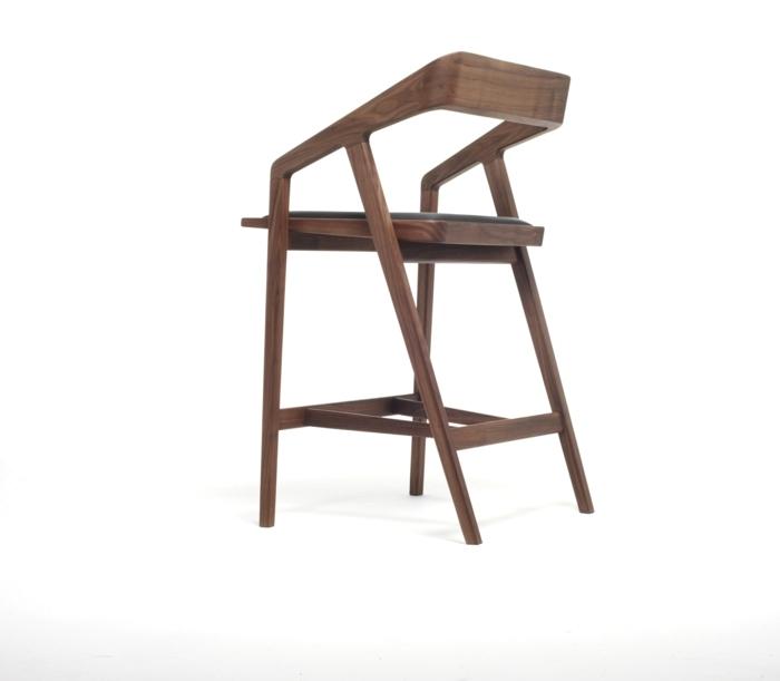Barhocker Aus Holz 20 Ideen u2013 Moderniseinfo - barhocker mit lehne 15 beispiele