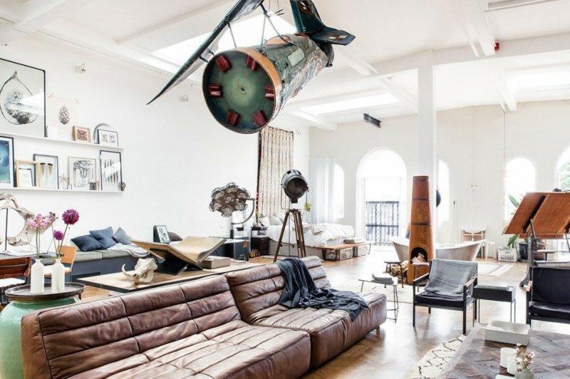 Eklektische Wohnung Loft Charakter - alitopten.com -