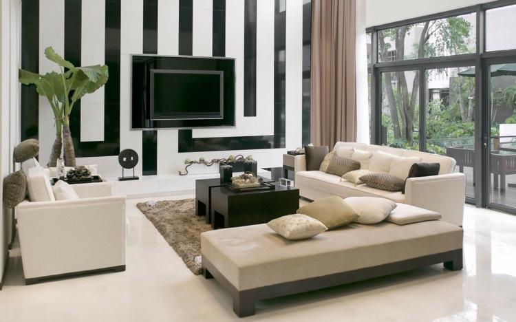 Wandstreifen Ideen Wohnzimmer – Msglocal.Info