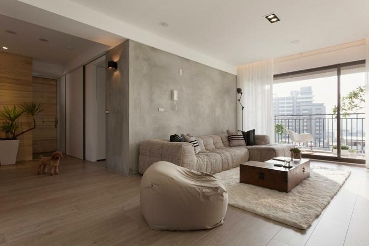 35 Wohnzimmer Ideen zur Gestaltung von Fußboden \ Wand - wandgestaltung wohnzimmer beispiele
