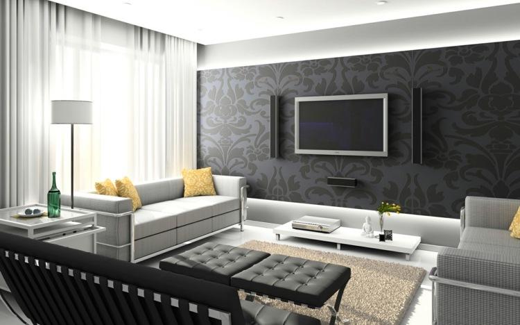 35 Wohnzimmer Ideen zur Gestaltung von Fußboden \ Wand - muster wohnzimmer