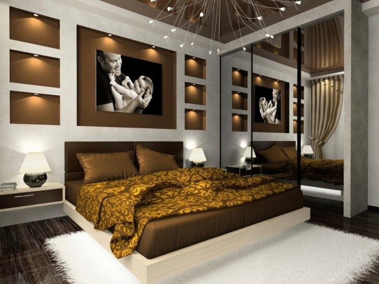 Ideen für das Schlafzimmer 30 Beispiele für jede Raumgröße - schlafzimmer weis braun modern