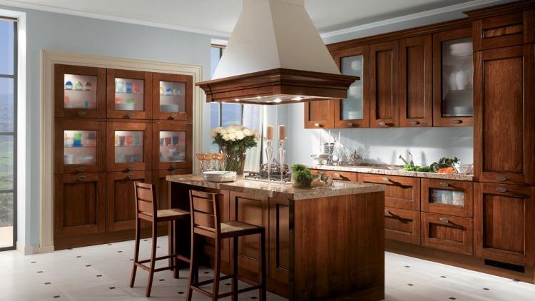 ... Italienische Landhauskuchen Gestaltungen Ideen Villawebinfo   Luxus  Kuchendesign Bentwood Holz ...