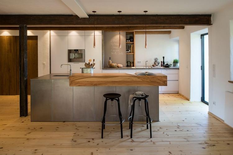 kueche-kochinsel-stahl-massivholz-tressen-dielenbodenjpg (750×500 - bar für küche