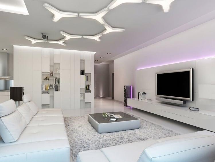 Best Wohnzimmer Led Beleuchtung Photos - House Design Ideas - beleuchtung wohnzimmer ideen