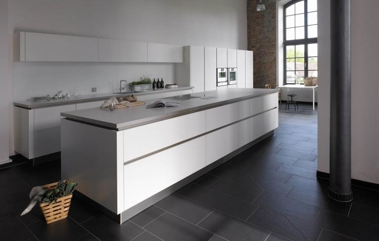 Moderne Küchen Mit Grifflosen Fronten \\u2013 Dune Kollektion Von Pedini   Moderne  Matt Weise