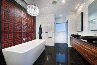 Rot im Badezimmer - 21 Ideen mit intensiven Rottnen