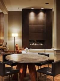 Modernes Wohnzimmer mit Kamin gestalten - 30 Bilder
