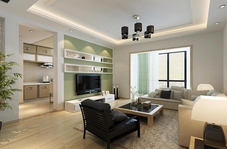 30 Wohnzimmerwände Ideen Streichen und modern gestalten - gestaltungsideen wohnzimmer