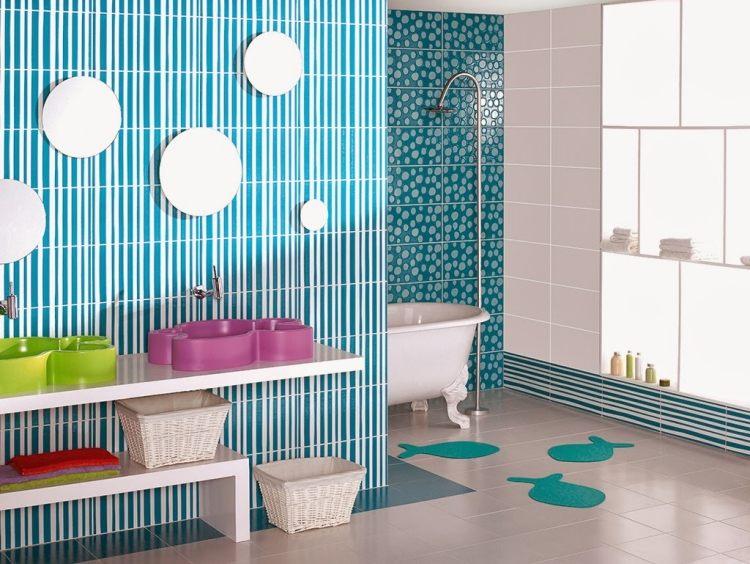 Beispiele Für Badezimmer Fliesen   35 Originelle Inspirationen   Badezimmer  Kinder