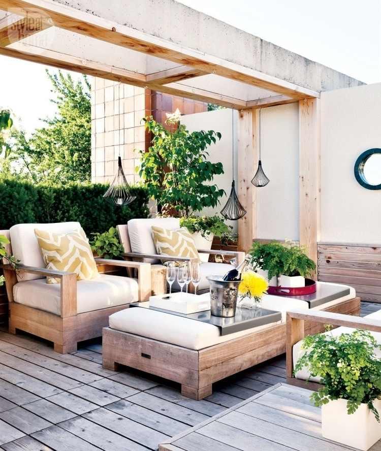 Garten Terrasse anlegen - 30 Ideen für den Terrassenboden - ideen terrasse gestalten