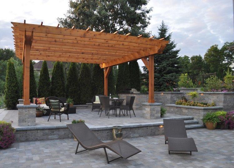 Holz Pergola Im Garten 17 Moderne Beispiele