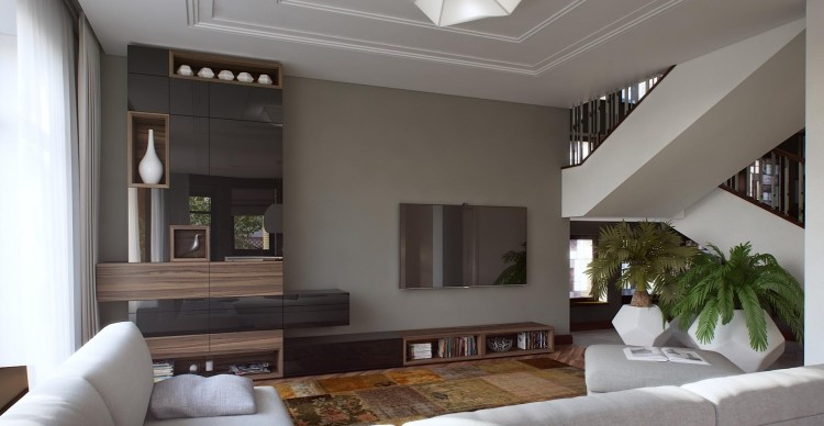 wohnzimmer trends - design more info - Wandfarben Modern 2015 Blau