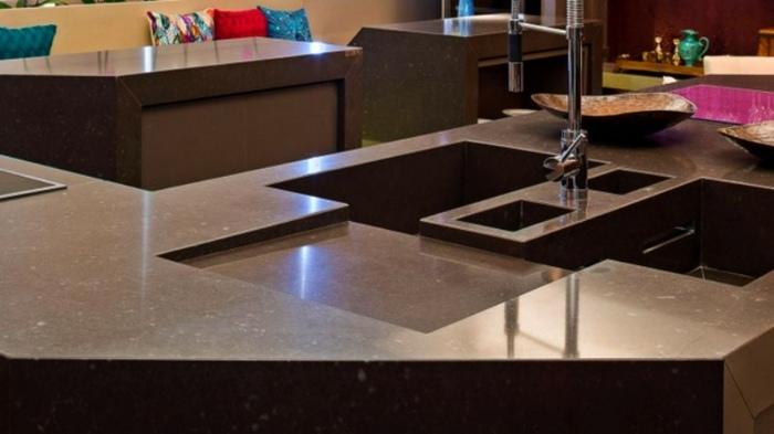 Küchen Spüle   Tolle Designs Aus Verschiedenen Steinarten   Kuchen Spule  Stein Bilder