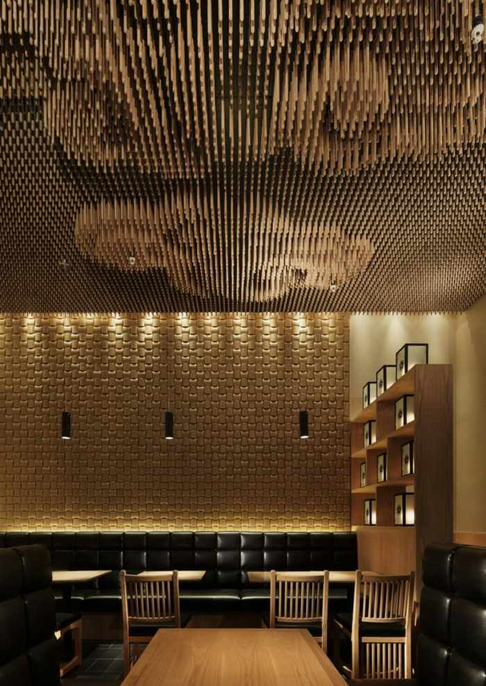 Stunning Innovatives Decken Design Restaurant Contemporary ...