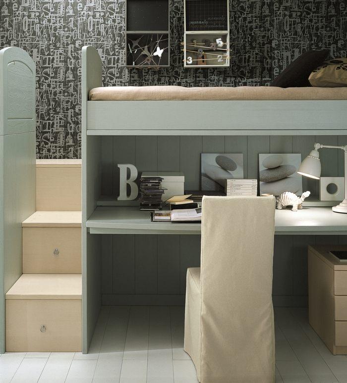 Kinderzimmerm246;bel Ideen Platzsparende Hochbetten