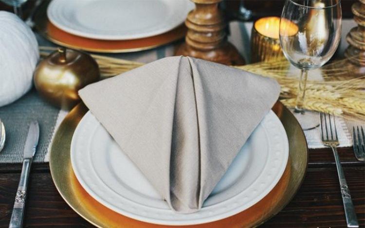 Servietten Falten Tischdeko Esszimmer - Design