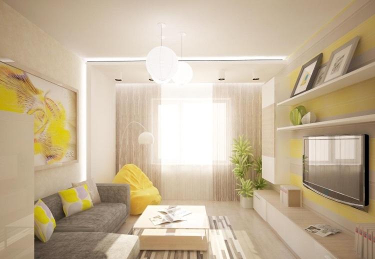 Wohnzimmer Grau Weiss Gelb | Wandtattoo Es Gibt Nichts Besseres Als ...