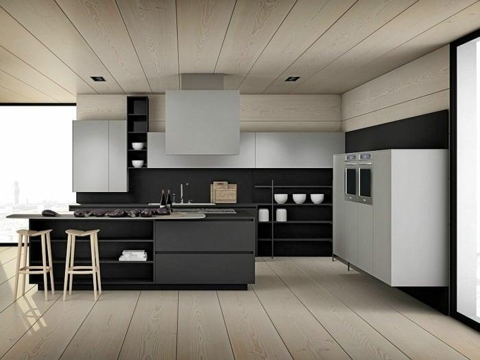 Moderne Küche  - moderne modulare kuche komfort