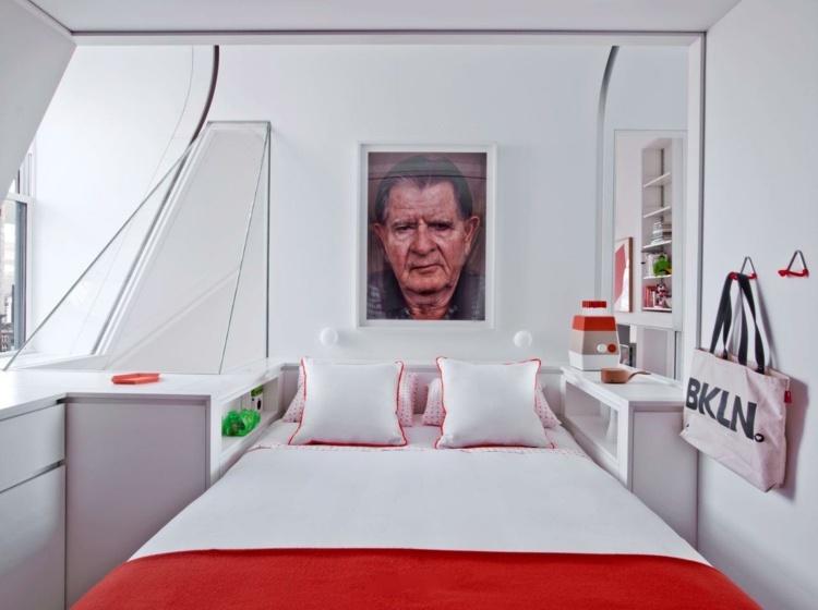 Schlafzimmer Design für kleine Räume - 23 funktionale Ideen - schlafzimmer ideen fur kleine raume