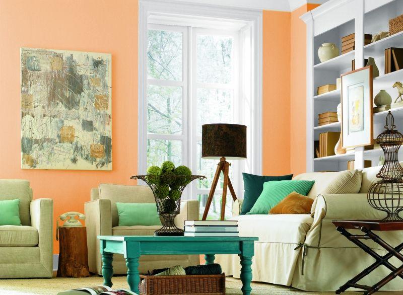 Wandfarben fürs Wohnzimmer - 25 Gestaltungsideen - gestaltungsideen wohnzimmer