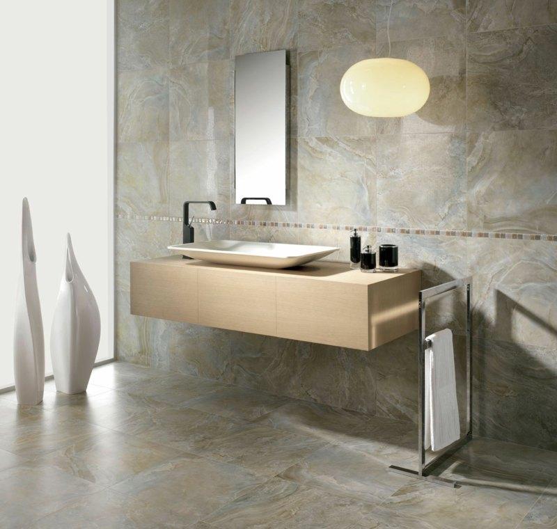 Waschtisch Beleuchtung im Bad - 22 tolle Ideen als Anregung - badezimmer konsole