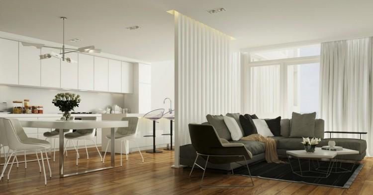 Nauhuri Offene Wohnküche Einrichten ~ Neuesten Design   Offene Wohnkuche  Gestalten Trennen