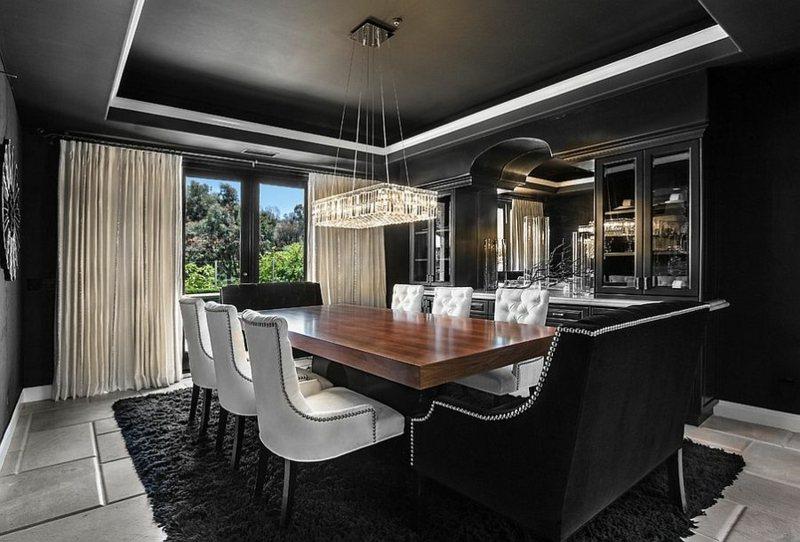 Schwarz im Esszimmer für eine stilvolle und dramatische Einrichtung - schwarz im esszimmer ideen einrichtung