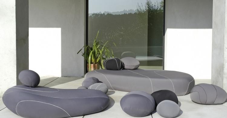 beautiful terrasse einrichten ideen pouf contemporary - house ...
