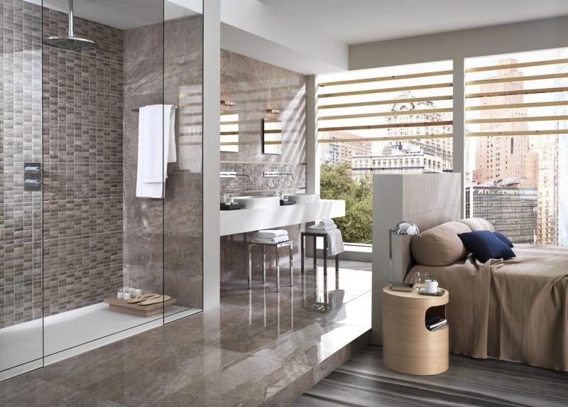 ... Badgestaltung Mit Fliesen   Badfliesen Designs Im Überblick   Badezimmer  Zwischenwand ...