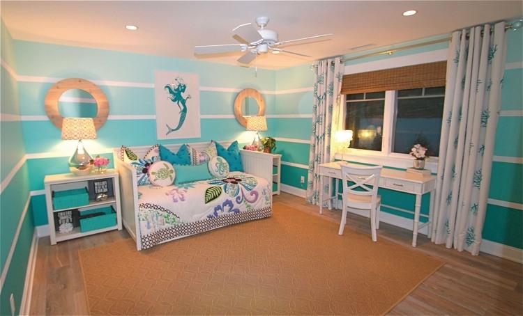 Farben im Kinderzimmer schön kombinieren - 56 Beispiele - kinderzimmer blau mdchen