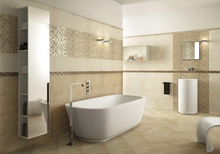Badezimmer Fliesen Sandfarben Modern U2013 Edgetagsinfo   Badezimmer Modern  Wei Mit Wenig Fliesen