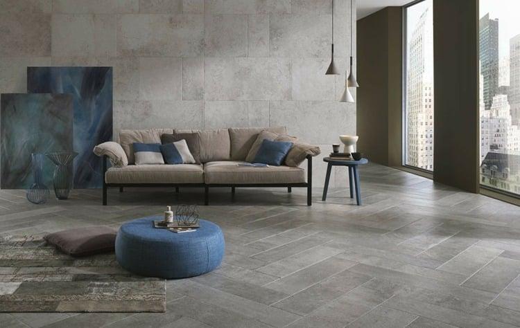 Fliesen in Steinoptik fünf italienischer Marken im Traumdesign - fliesen grau wohnzimmer