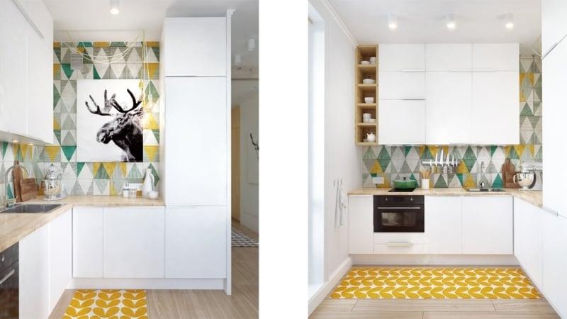 Kleine Küchen einrichten - Tipps und Ideen zum Grundriss - schmale fenster kuechen gestaltung