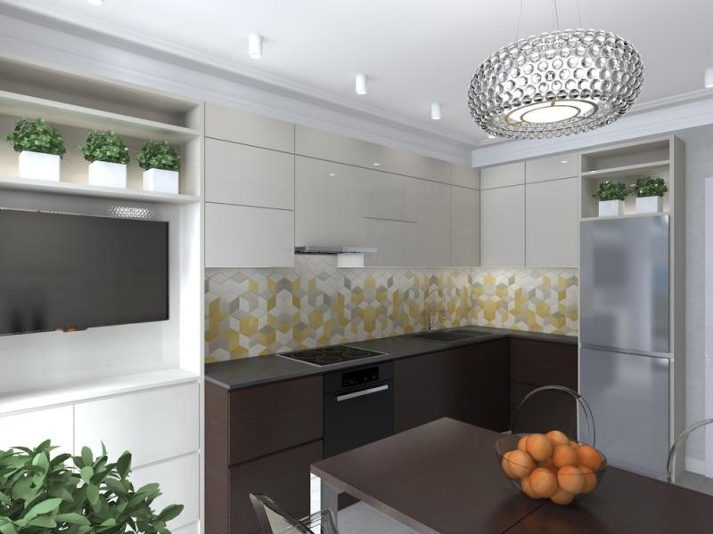 Kleine Küchen einrichten - Tipps und Ideen zum Grundriss - wandgestaltung kuche modern