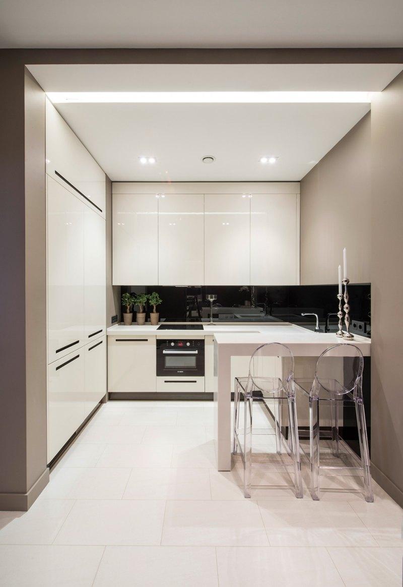Schwarz Weiße Küchen Bilder | Wandverkleidung Der Küche ...