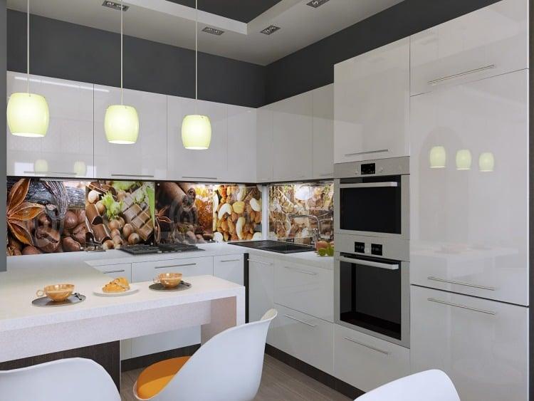 Küche Wandgestaltung - 25 Ideen mit Farbe, Tapete und Mehr - kuchenwandgestaltung ideen fliesen glas