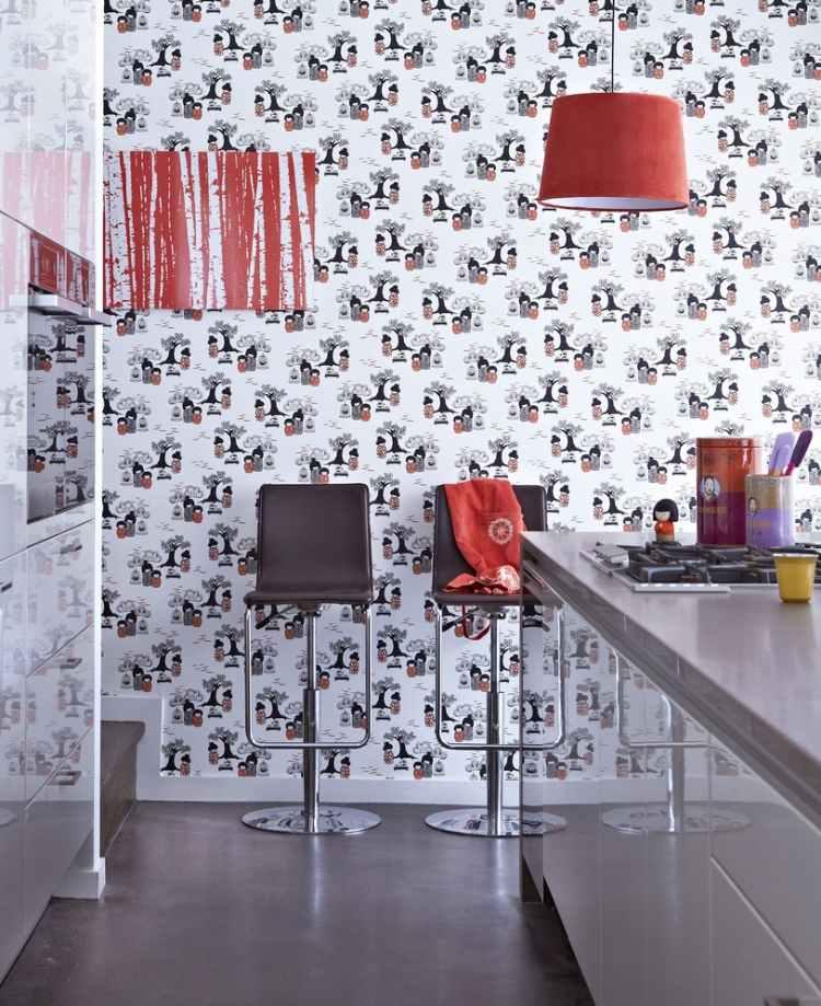 Küche Wandgestaltung - 25 Ideen mit Farbe, Tapete und Mehr - kuche wandgestaltung ideen farbe tapete