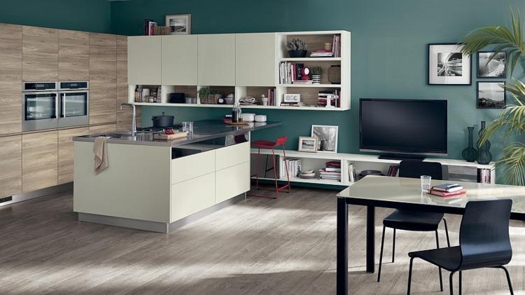 Schön Moderne Küchen Design Kombiniert Küche \ Wohnzimmer   Moderne Kuchen Design  Motus Bilder