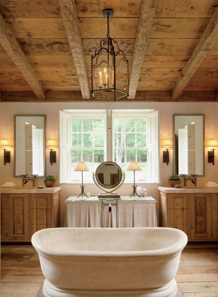 Elegant Loft Rustikales Ambiente Klavier Sitzmöbel Sichtbare Balken Decke